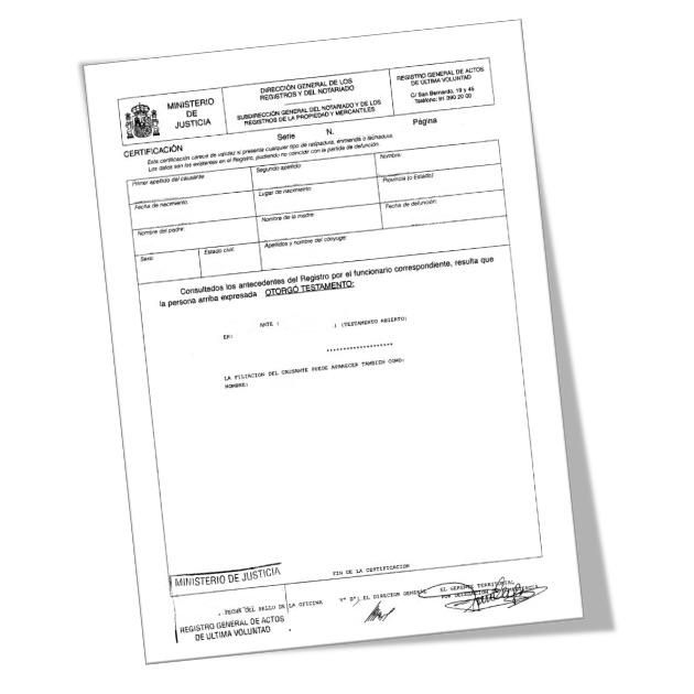 f0c172a30 Certificado de últimas voluntades - Solicitud online