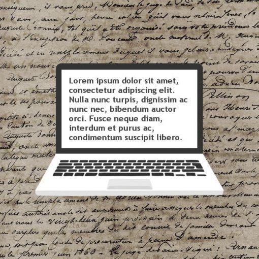 Transcripción de documentos antiguos. Genealogía.