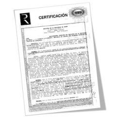 Certificación registral