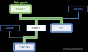 Línea de sucesión colateral o indirecta