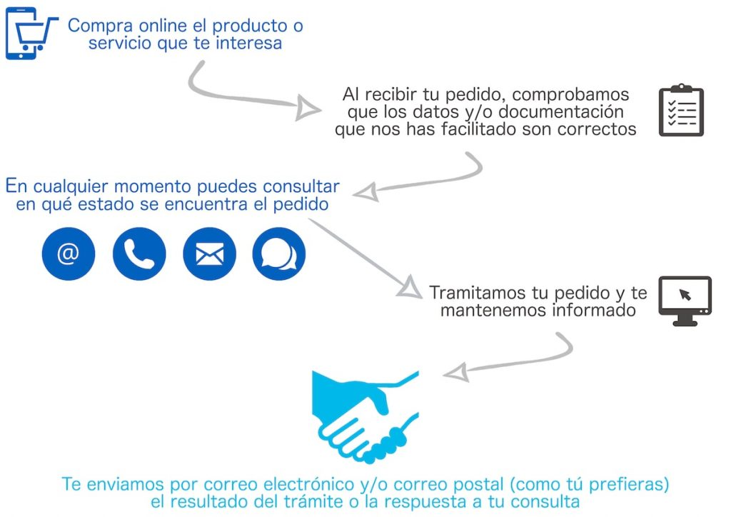 Diagrama cómo trabajamos en Asesoría online Genealia