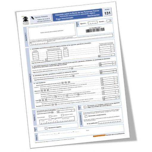 MODELO 131: pago fraccionado IRPF