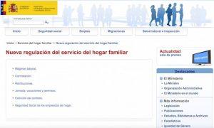 Sede Gobierno Sistema especial trabajadores del hogar