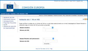 Sistema VIES Comisión Europea