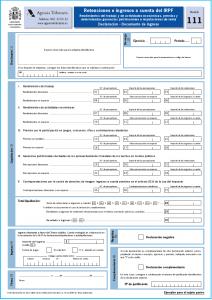 Modelo-111. Declaración Trimestral del IRPF