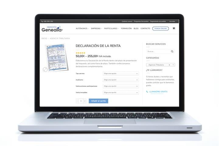 Contratar Declaración de la Renta online