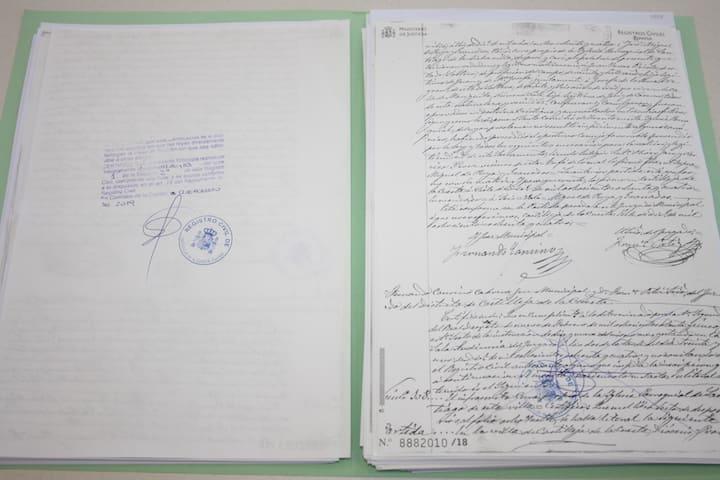 Documentos investigación genealógica